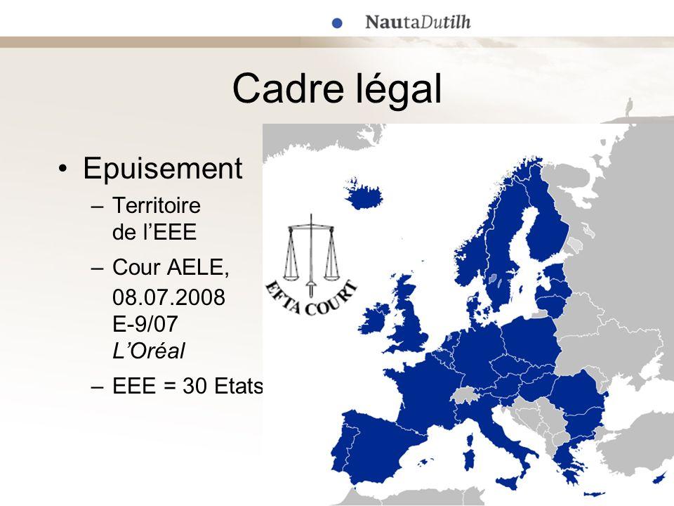 Cadre légal Epuisement Territoire de l'EEE Cour AELE, 08.07.2008