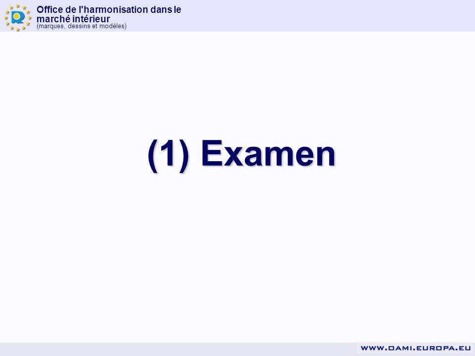 (1) Examen