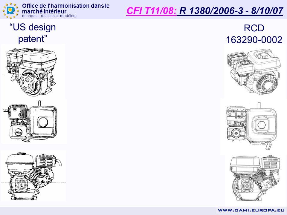 CFI T11/08: R 1380/2006-3 - 8/10/07 US design patent RCD 163290-0002