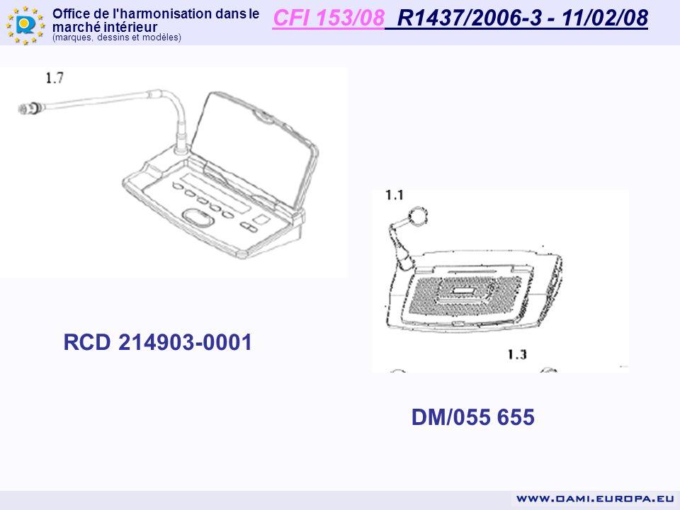 CFI 153/08 R1437/2006-3 - 11/02/08 RCD 214903-0001 DM/055 655