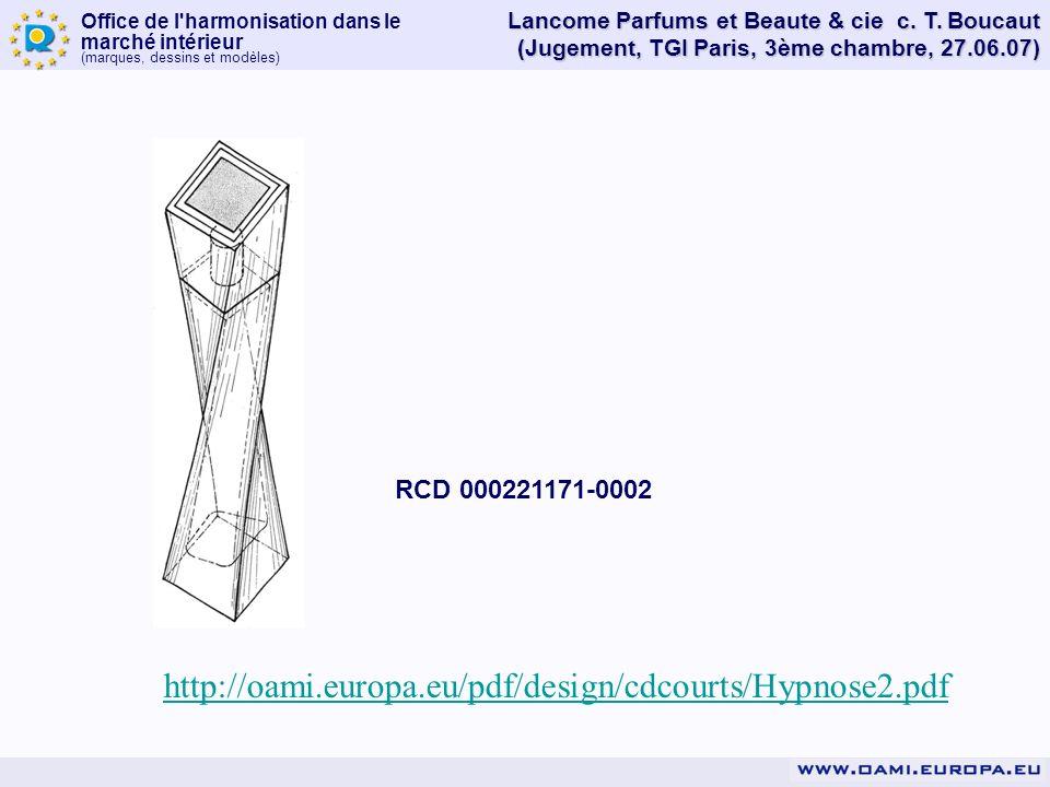 Lancome Parfums et Beaute & cie c. T. Boucaut