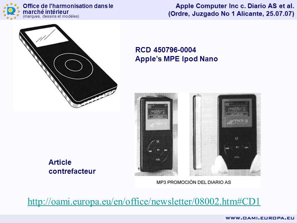 Apple Computer Inc c. Diario AS et al.