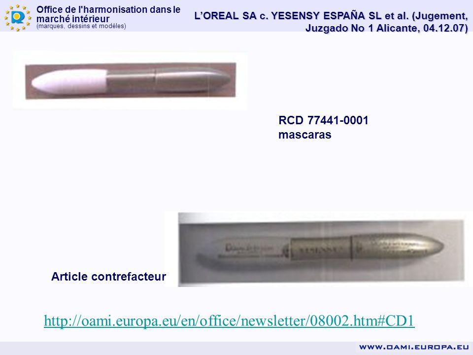 L'OREAL SA c. YESENSY ESPAÑA SL et al