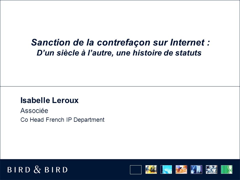 Isabelle Leroux Associée Co Head French IP Department