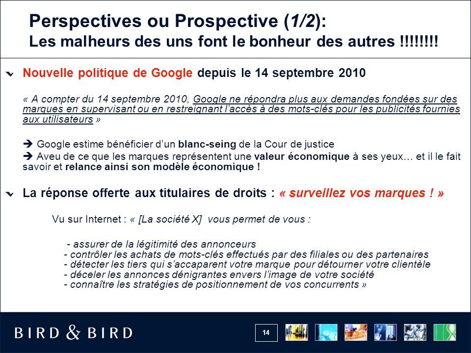 Perspectives ou Prospective (1/2): Les malheurs des uns font le bonheur des autres !!!!!!!!