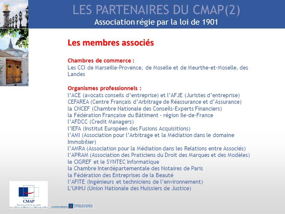 LES PARTENAIRES DU CMAP(2) Association régie par la loi de 1901
