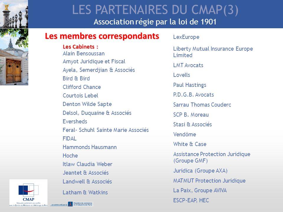 LES PARTENAIRES DU CMAP(3) Association régie par la loi de 1901