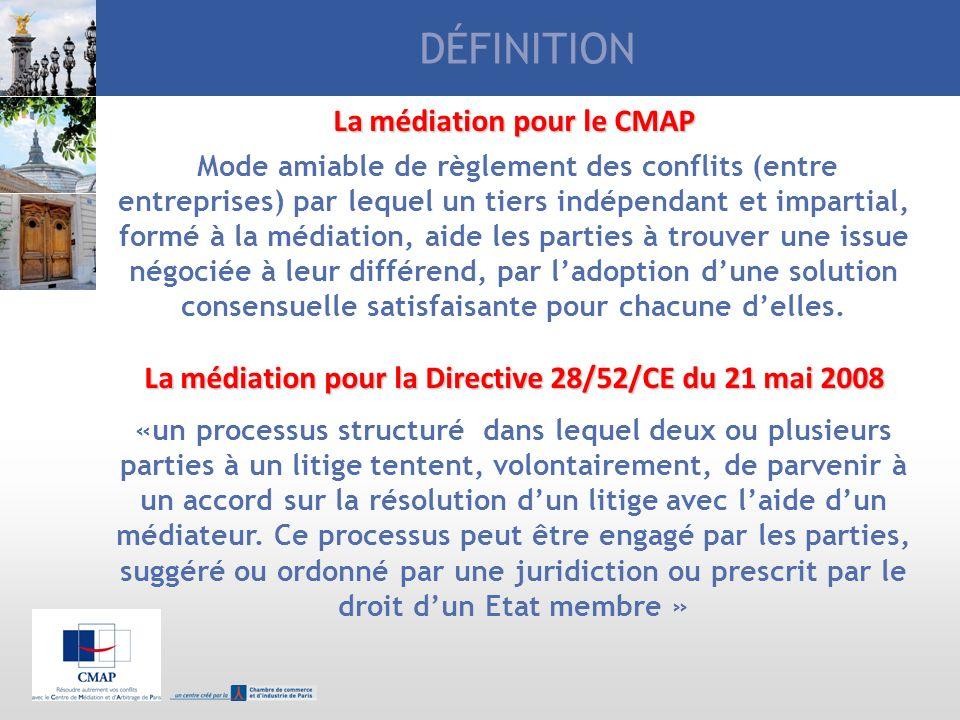 DÉFINITION La médiation pour le CMAP