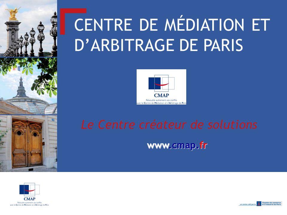 CENTRE DE MÉDIATION ET D'ARBITRAGE DE PARIS