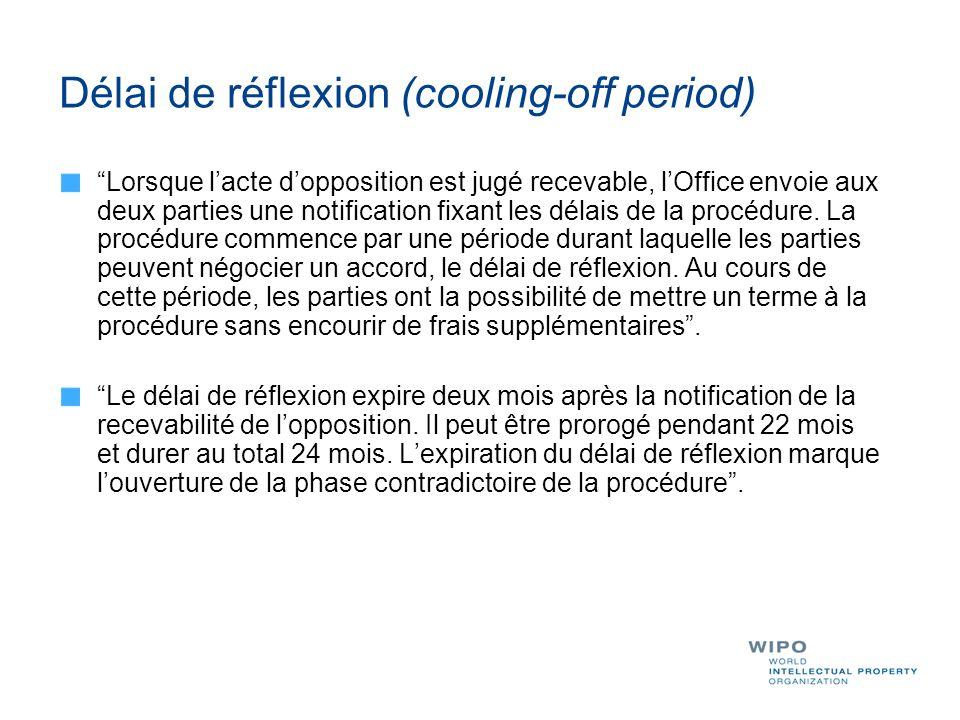 Délai de réflexion (cooling-off period)