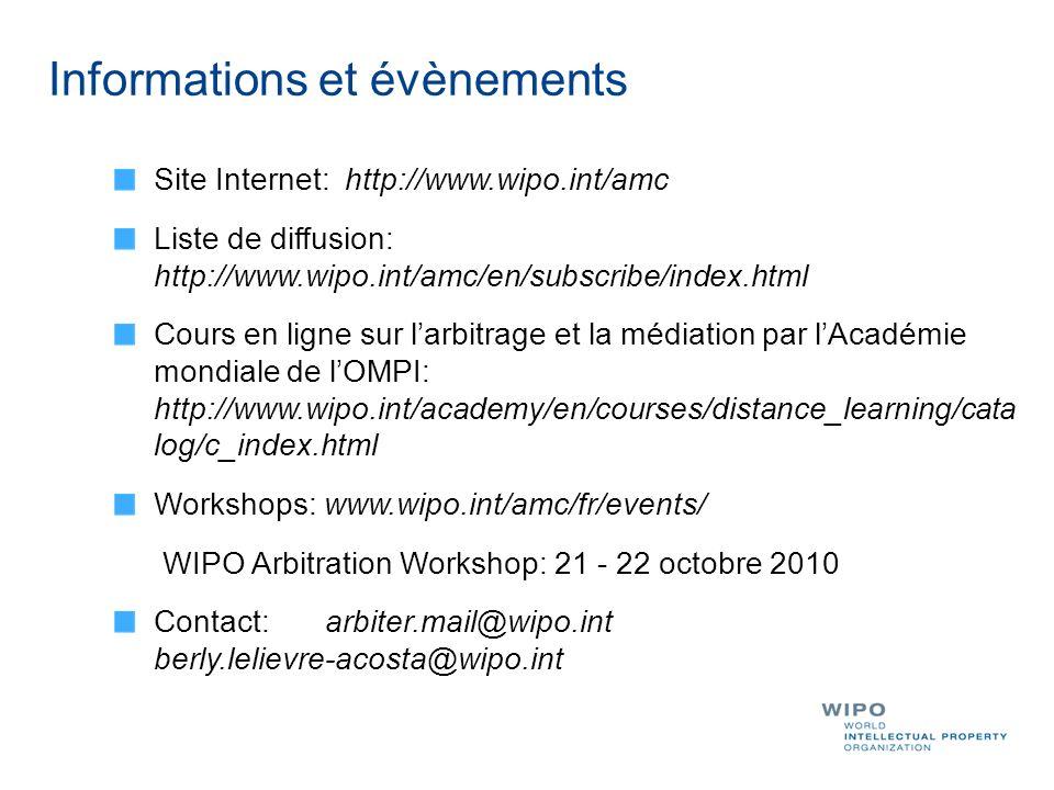 Informations et évènements