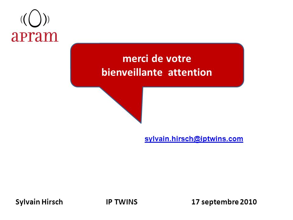 Sylvain Hirsch IP TWINS 17 septembre 2010
