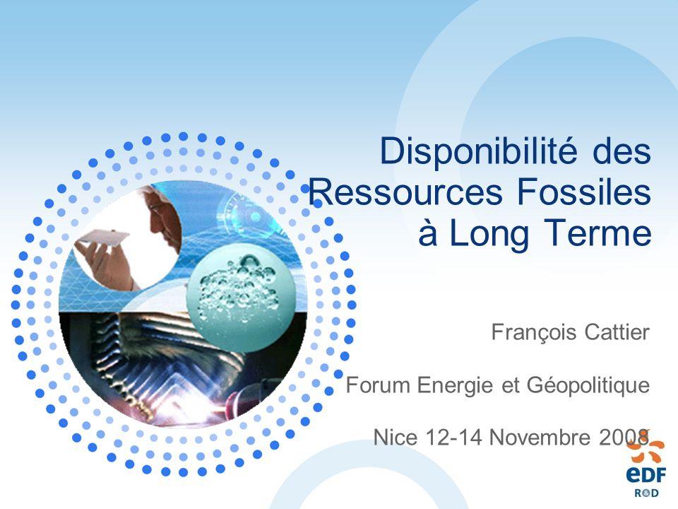 Disponibilité des Ressources Fossiles à Long Terme