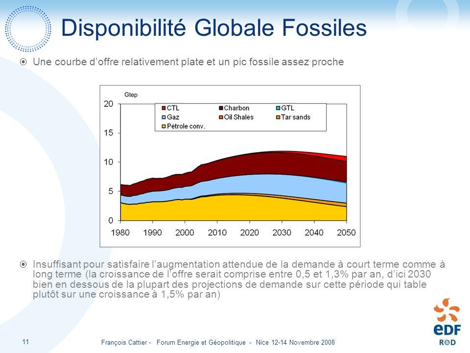 Disponibilité Globale Fossiles