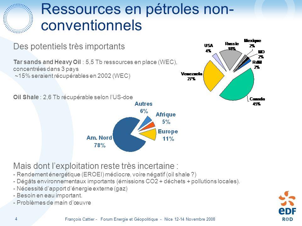 Ressources en pétroles non- conventionnels