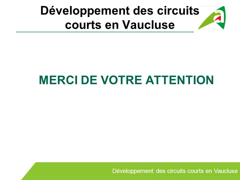 Développement des circuits courts en Vaucluse