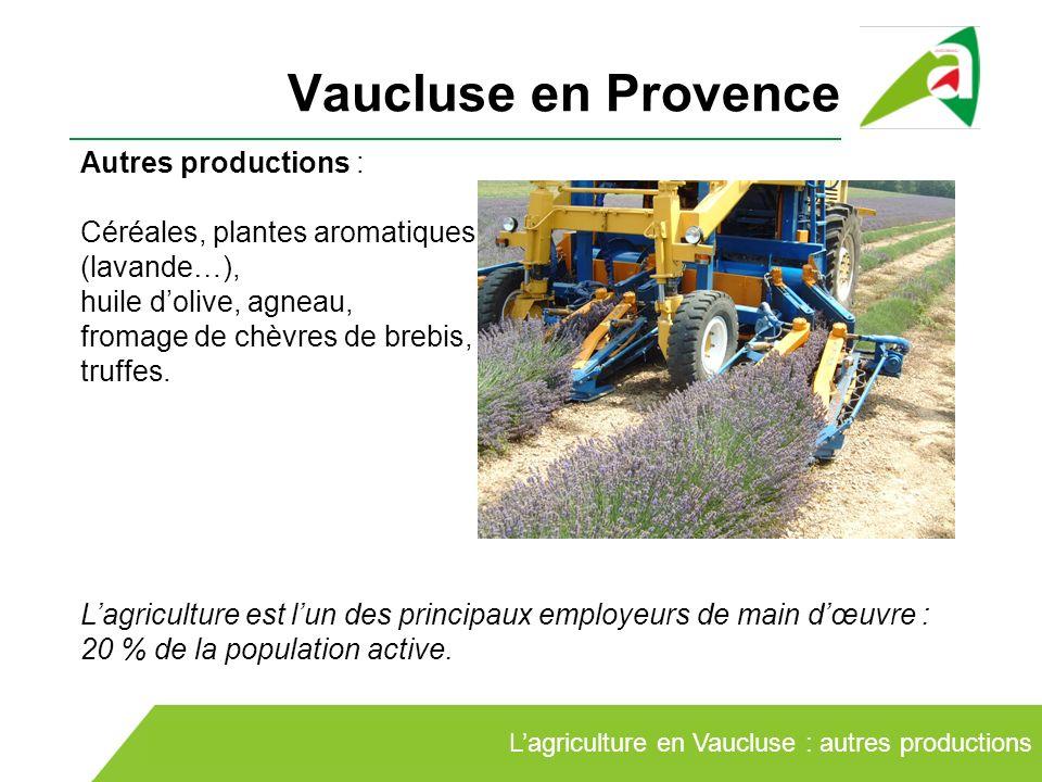 Vaucluse en Provence Autres productions :