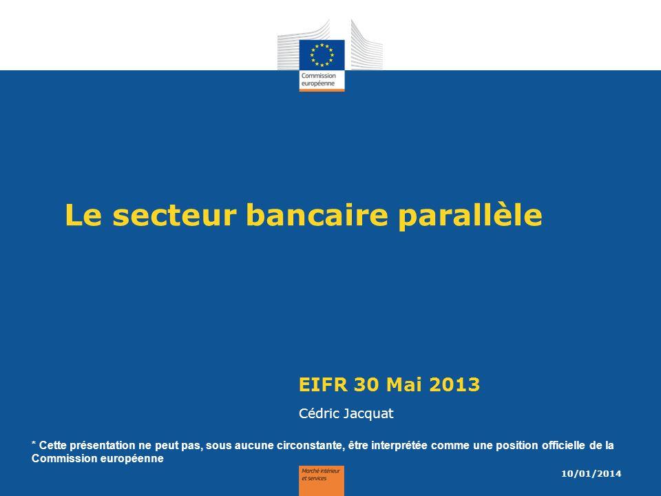Le secteur bancaire parallèle
