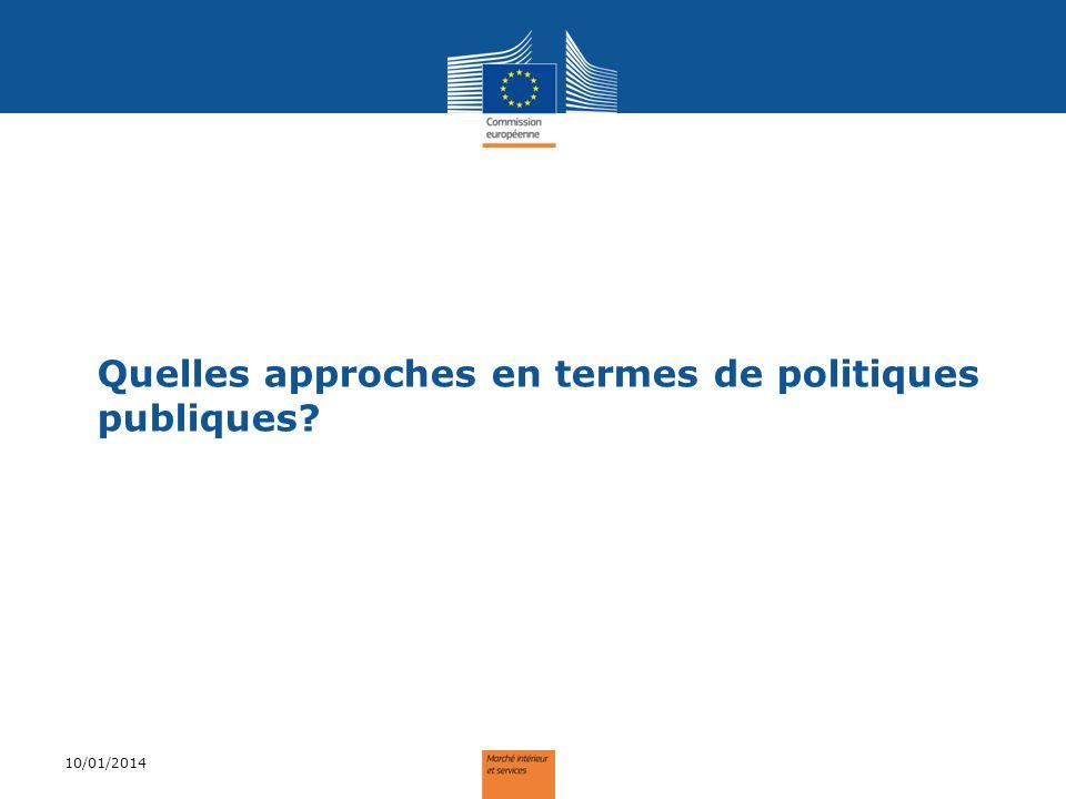 Quelles approches en termes de politiques publiques