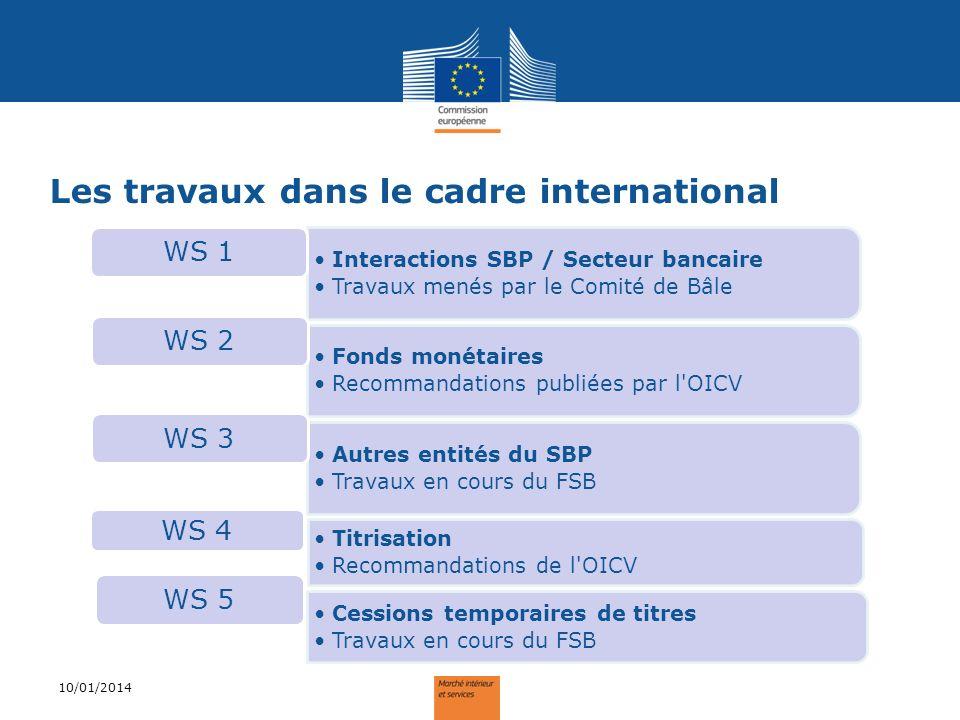 Les travaux dans le cadre international