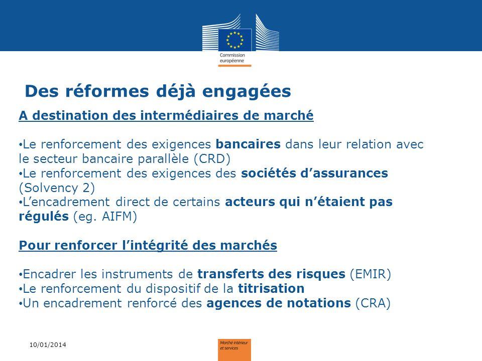 Des réformes déjà engagées