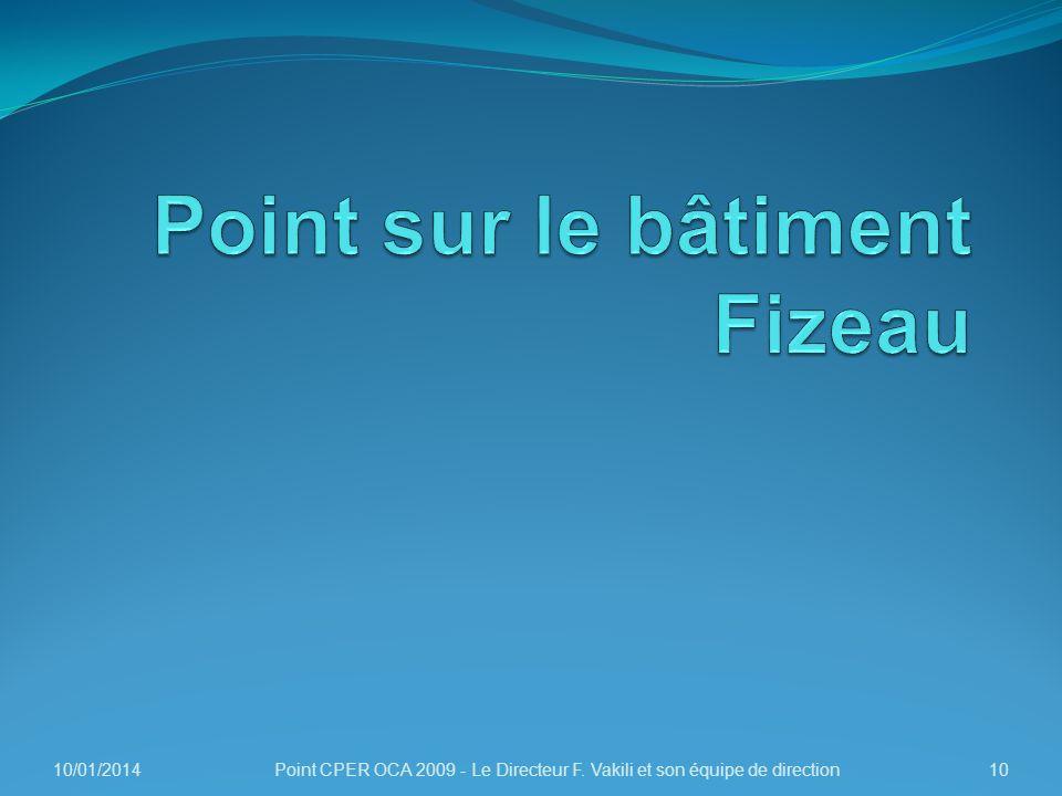 Point sur le bâtiment Fizeau