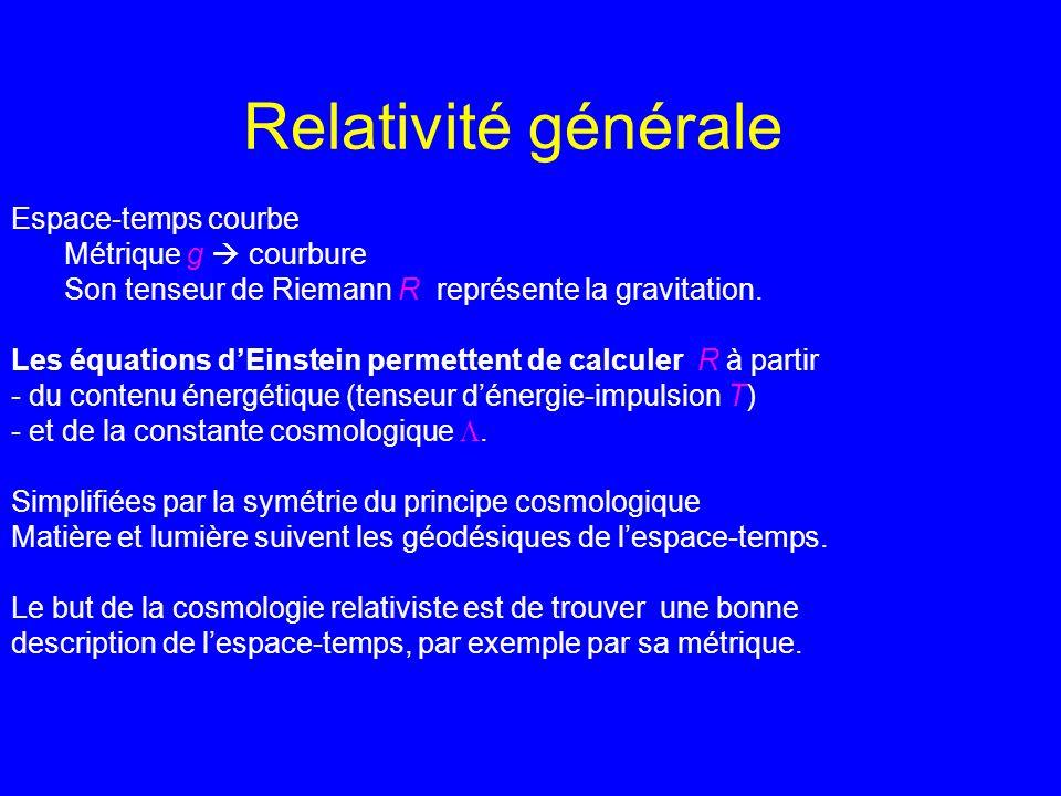 Relativité générale Espace-temps courbe