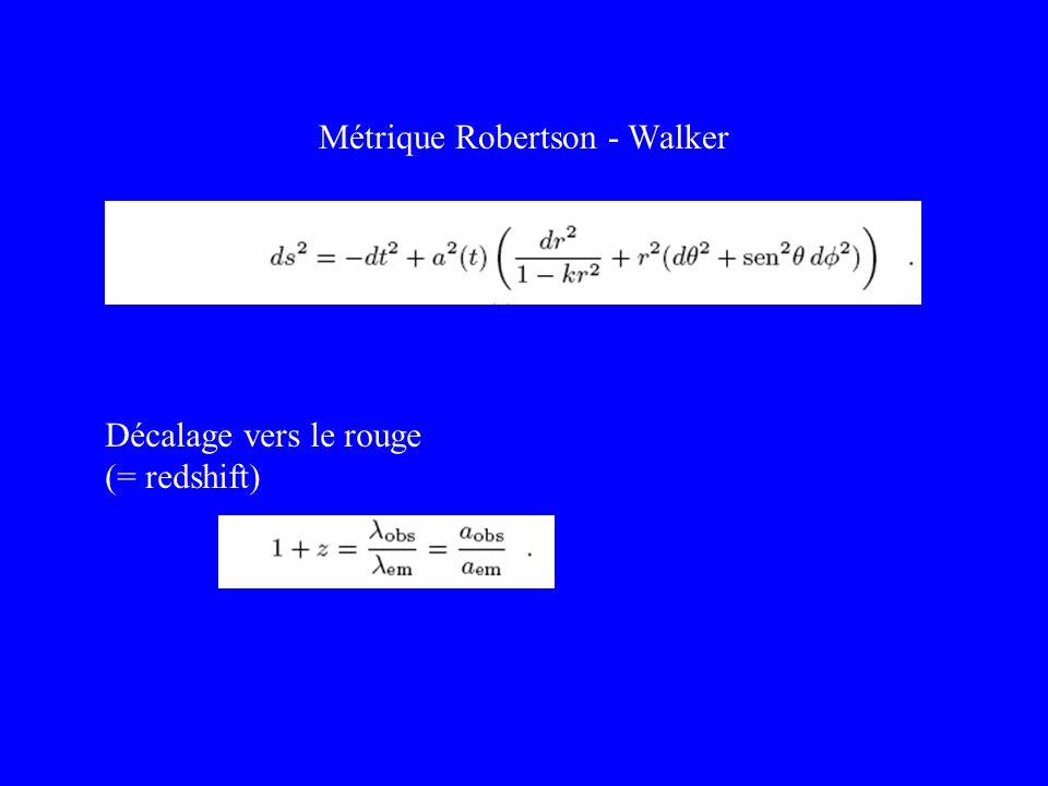 Métrique Robertson - Walker