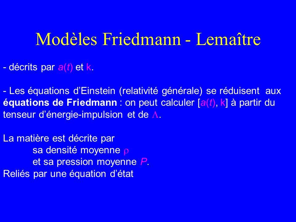 Modèles Friedmann - Lemaître