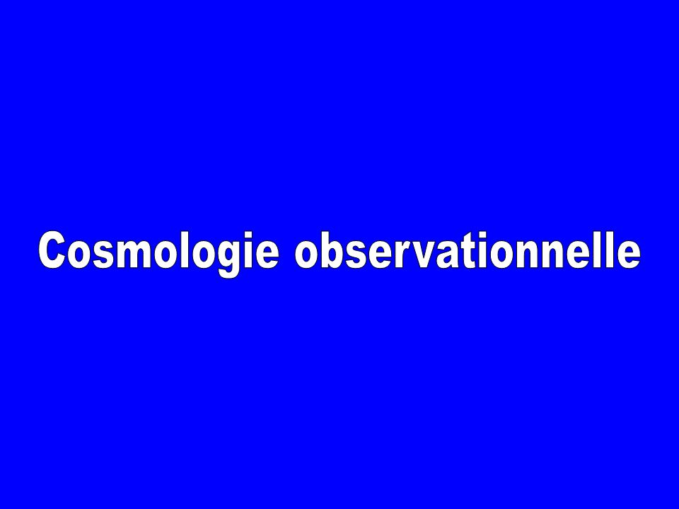 Cosmologie observationnelle