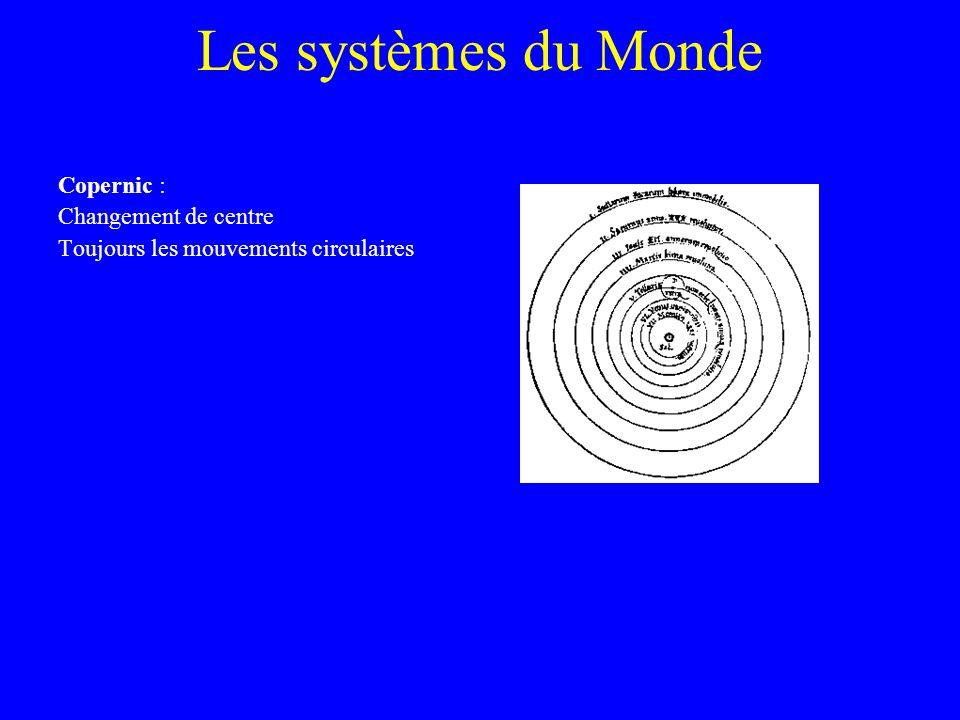 Les systèmes du Monde Copernic : Changement de centre