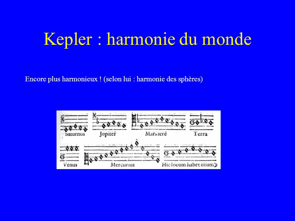 Kepler : harmonie du monde
