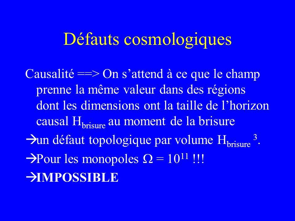 Défauts cosmologiques