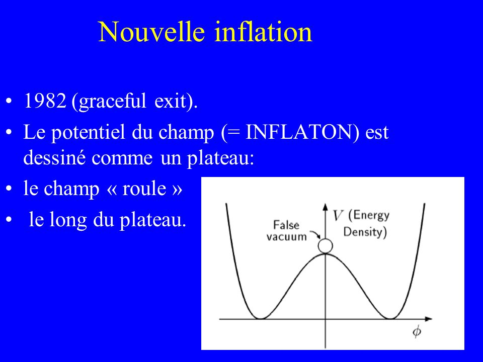 Nouvelle inflation 1982 (graceful exit).