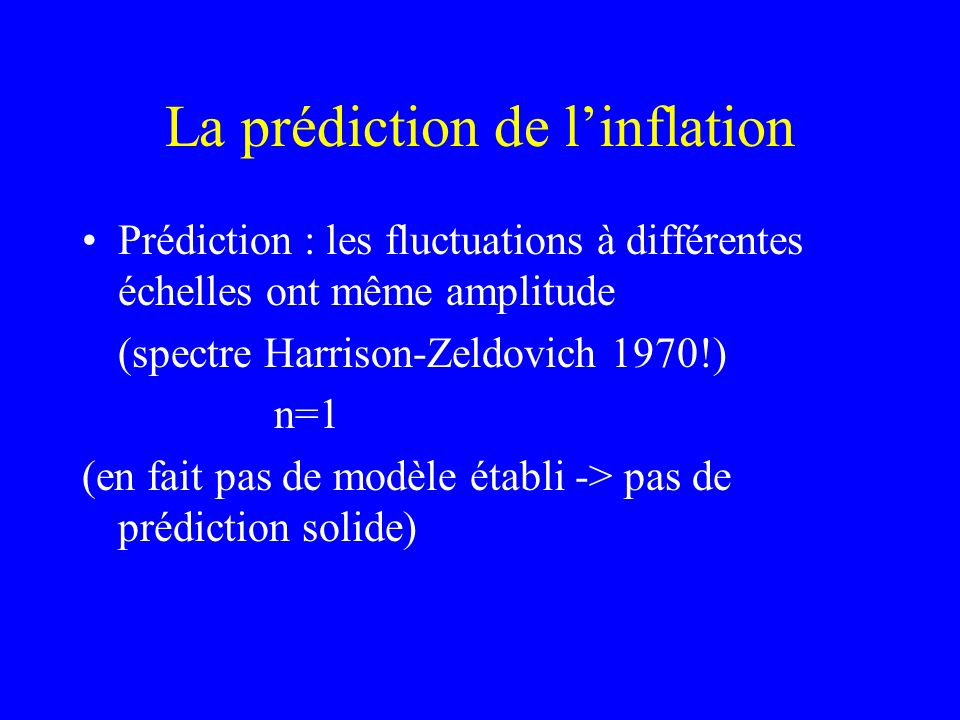 La prédiction de l'inflation