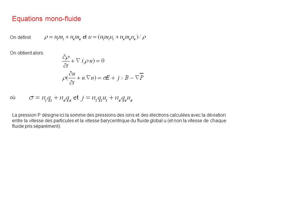 Equations mono-fluide