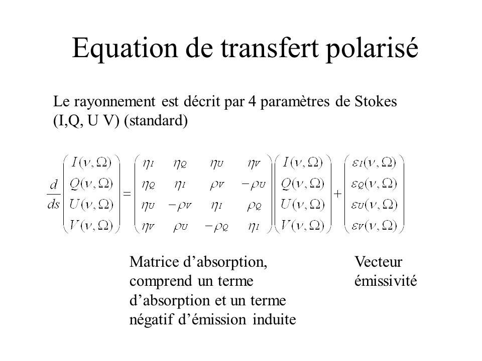 Equation de transfert polarisé