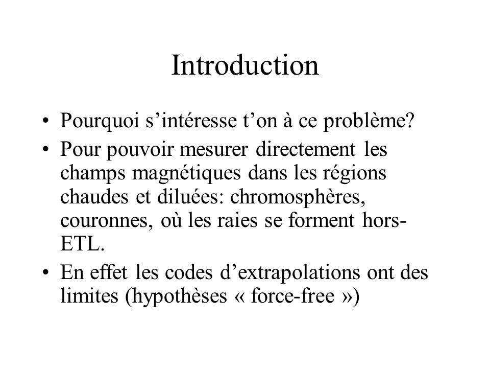Introduction Pourquoi s'intéresse t'on à ce problème