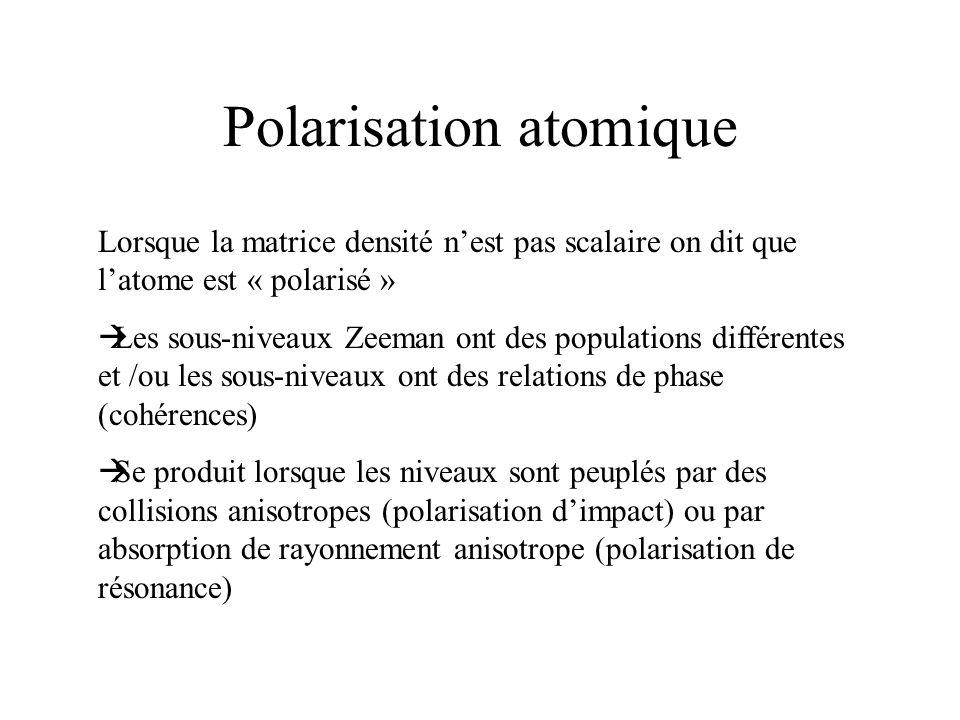 Polarisation atomique