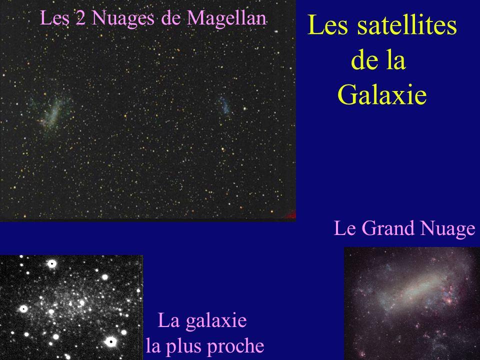 Les satellites de la Galaxie Les 2 Nuages de Magellan Le Grand Nuage