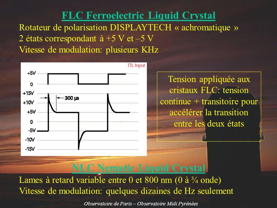FLC Ferroelectric Liquid Crystal NLC Nematic Liquid Crystal
