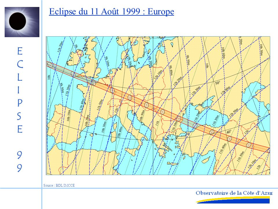 Eclipse du 11 Août 1999 : Europe