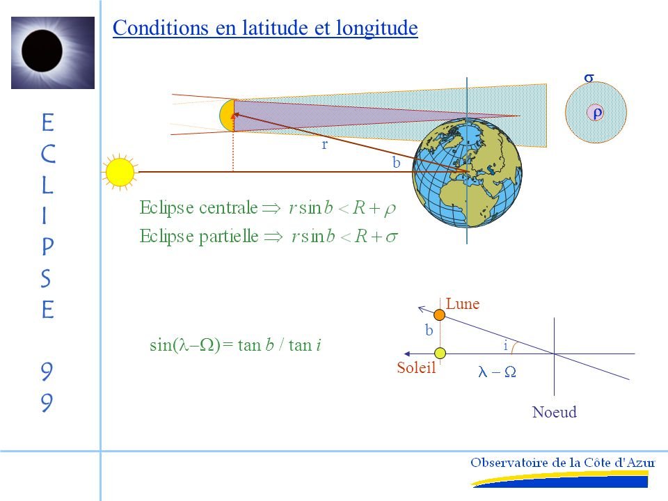 Conditions en latitude et longitude