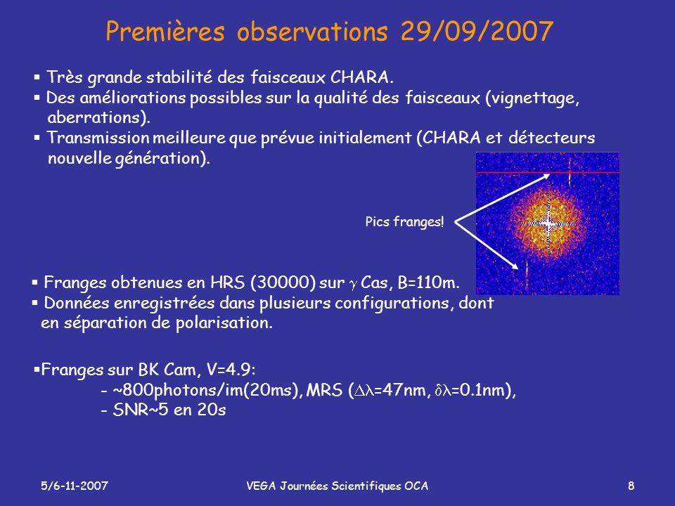 Premières observations 29/09/2007