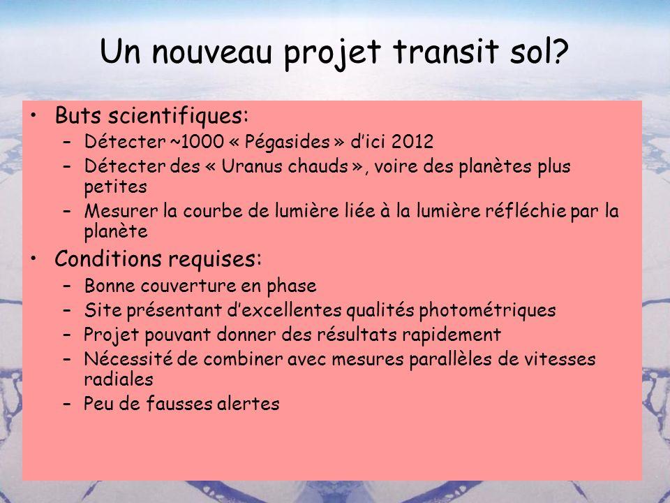 Un nouveau projet transit sol