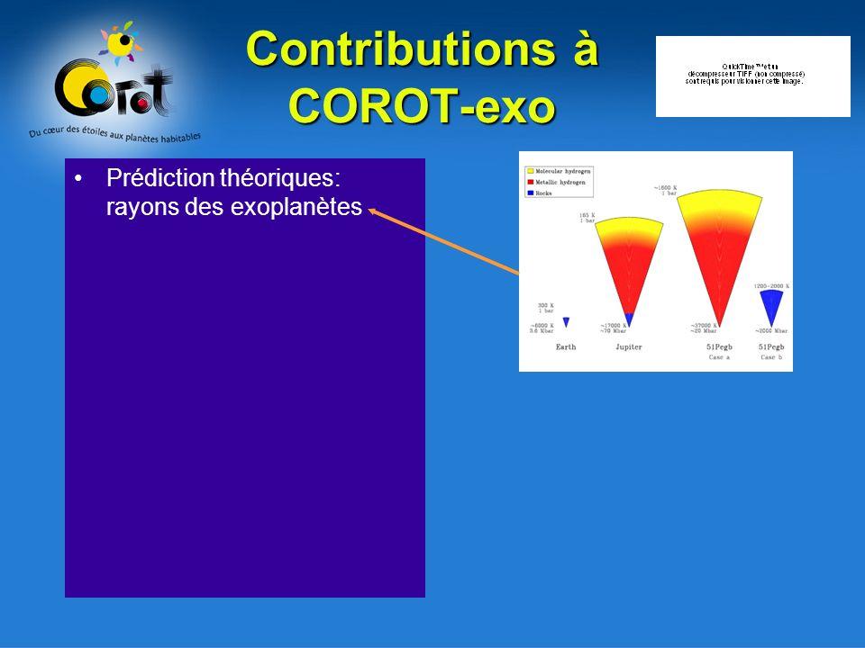 Contributions à COROT-exo