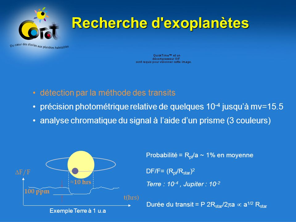 Recherche d exoplanètes