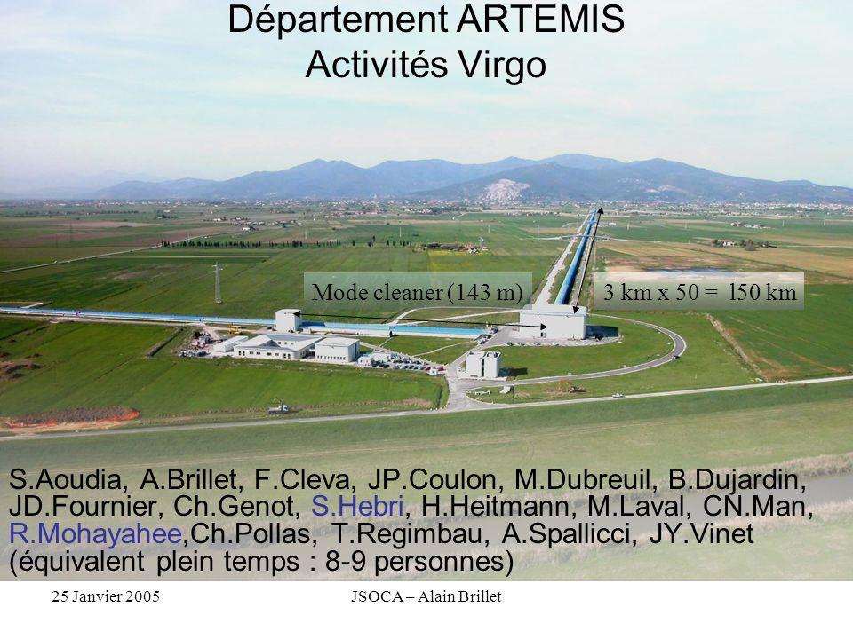 Département ARTEMIS Activités Virgo
