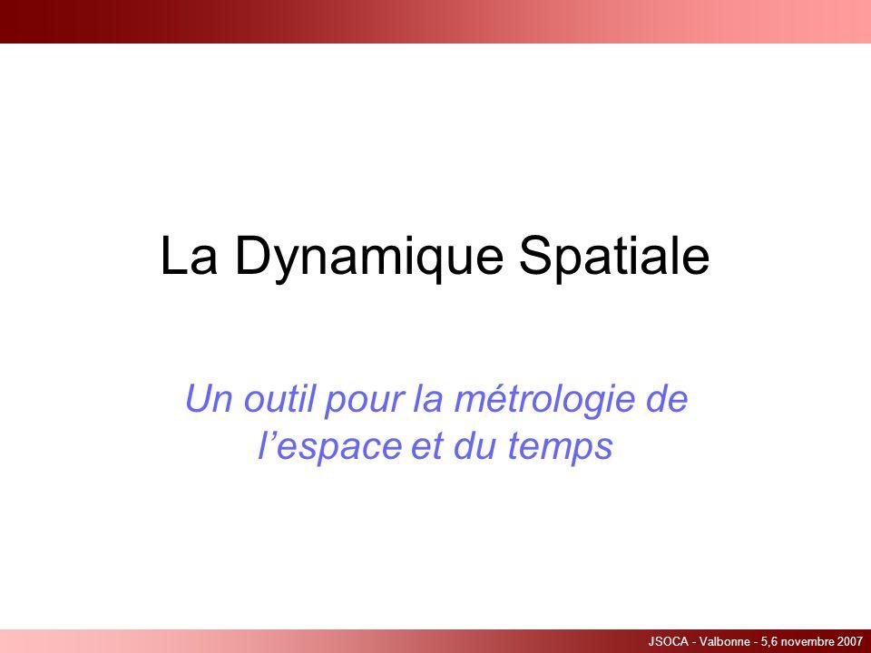 Un outil pour la métrologie de l'espace et du temps