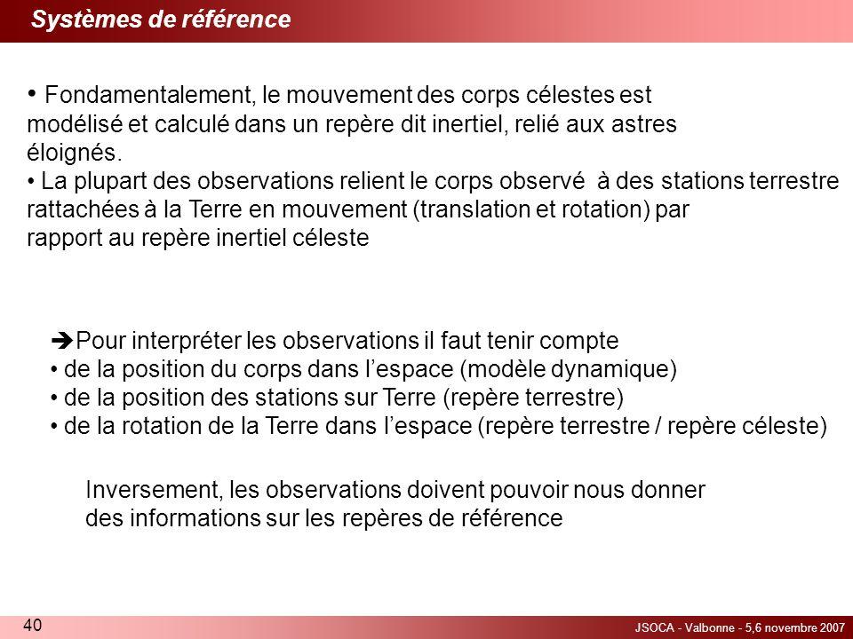 Systèmes de référence